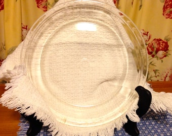 """Antique Pyrex etched Glass Pie Plate, Early 1900""""s, Rare pie plate"""