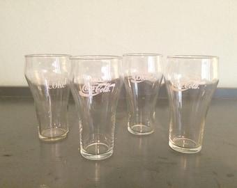 Four+ 16 oz. Enjoy Coca Cola / Coke Glasses