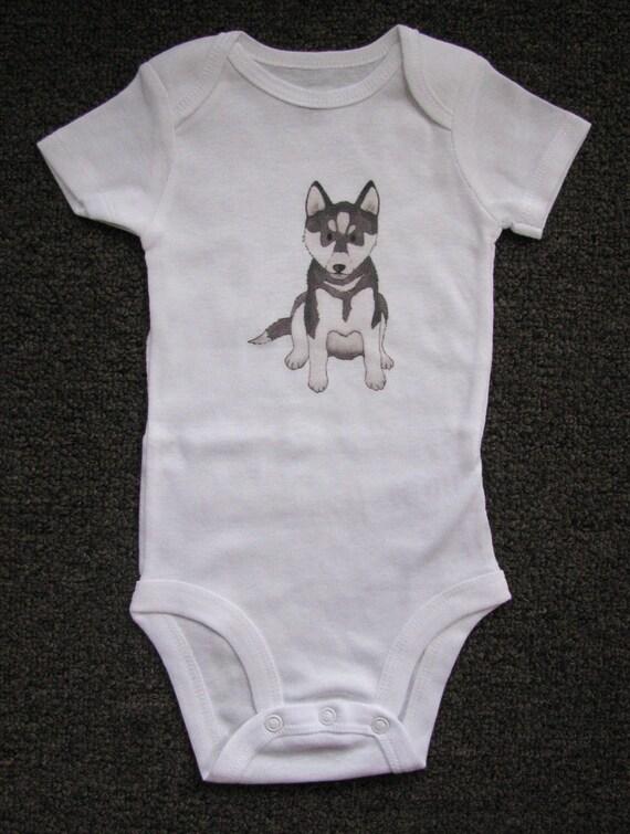 Cute Baby Bodysuit Unique Baby clothes UCONN Baby Husky
