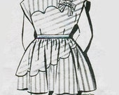 1940s Girls Mail Order Dress Pattern 1750 Scalloped Dress & Pantie Size 6 Years