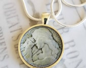 "St Mary Magdalene Apostle Pendant with 20"" Sterling Silver Chain - 28mm"