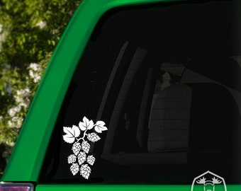 Hops Vine Car Window Decal