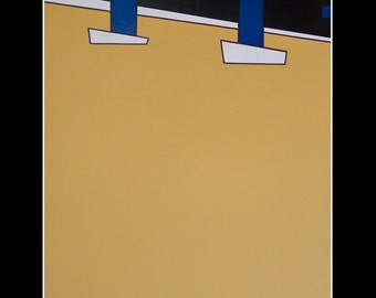 "PAINTING Modern Abstract Acrylic on Panel 60X120 - ""ESCAPE"""