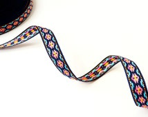 Jacquard ribbon with etnic print (per meter)