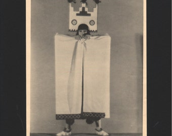 "Photograph from ""The Dance of Life"", 1930s, Zuni Indian Ghost Dance, matted in black  - 000155M"