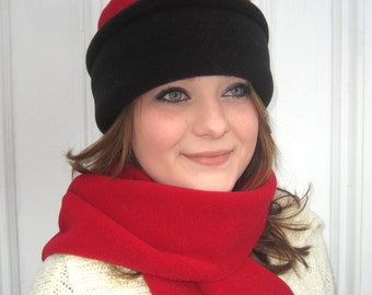 Reversible Polartec Fleece Pillbox Hat