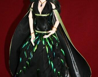 Evangeline Ghastly OOAK ensemble.     Iridessa The Beetle Queen.  One of a kind.