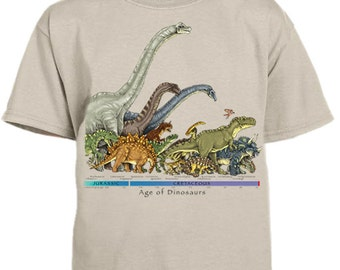 Dinosaur Timeline youth t-shirt