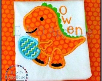 Easter Applique Design - Easter Egg Applique Design - Dino Applique Design - Dinosaur Applique - Easter Embroidery Design - Egg Embroidery