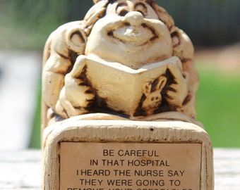 "Vintage 1976 Paula Figurine - ""Be Careful in That Hospital"" - W491 - Gag Gift"