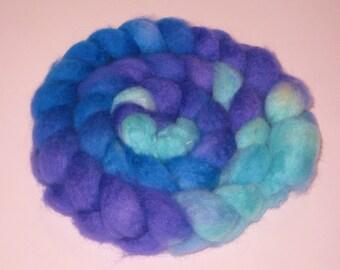 Superwash BFL Wool Roving - Hand Dyed Roving for Spinning
