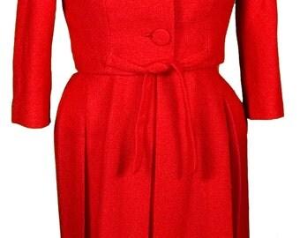 1960s Medium Dress Jacqueline Kennedy Onassis Jackie O Suit Set Office Tweed Designer Mink Collar Audrey Hepburn Mod Breakfast at Tiffanys