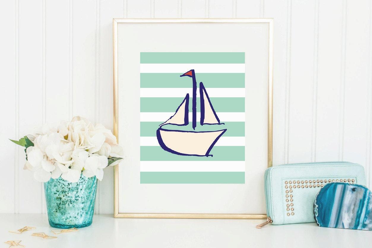 nautical home decor printables preppy sailboat nautical