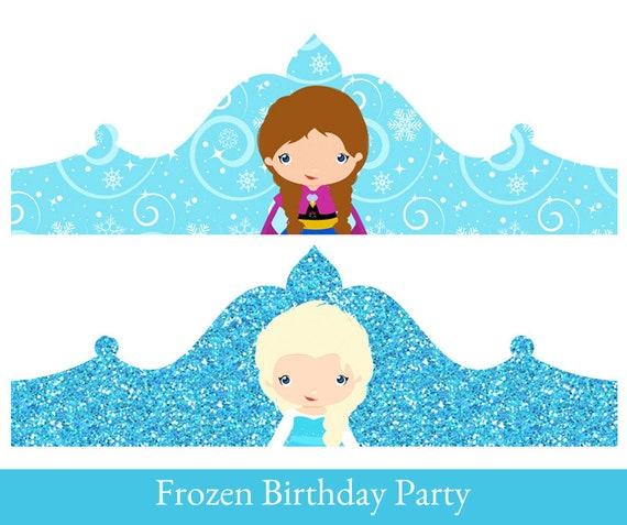happy birthday crown template - frozen crown princess elsa birthday crown crown printable
