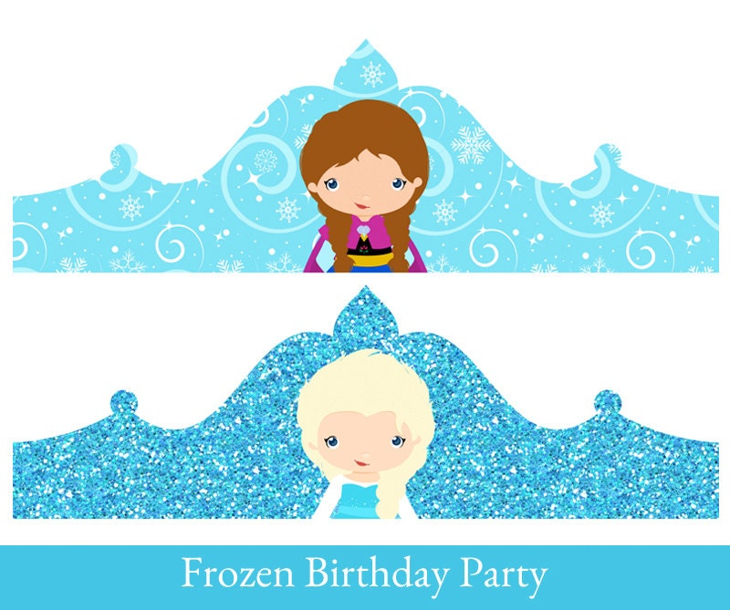 frozen crown princess elsa birthday crown crown printable