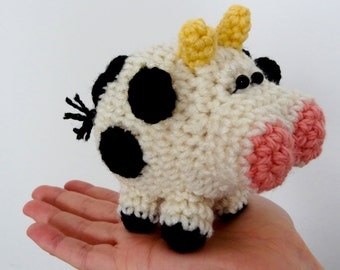 Crochet Amigurumi Cow Pattern - Super Adorable Stuffed Toy PDF