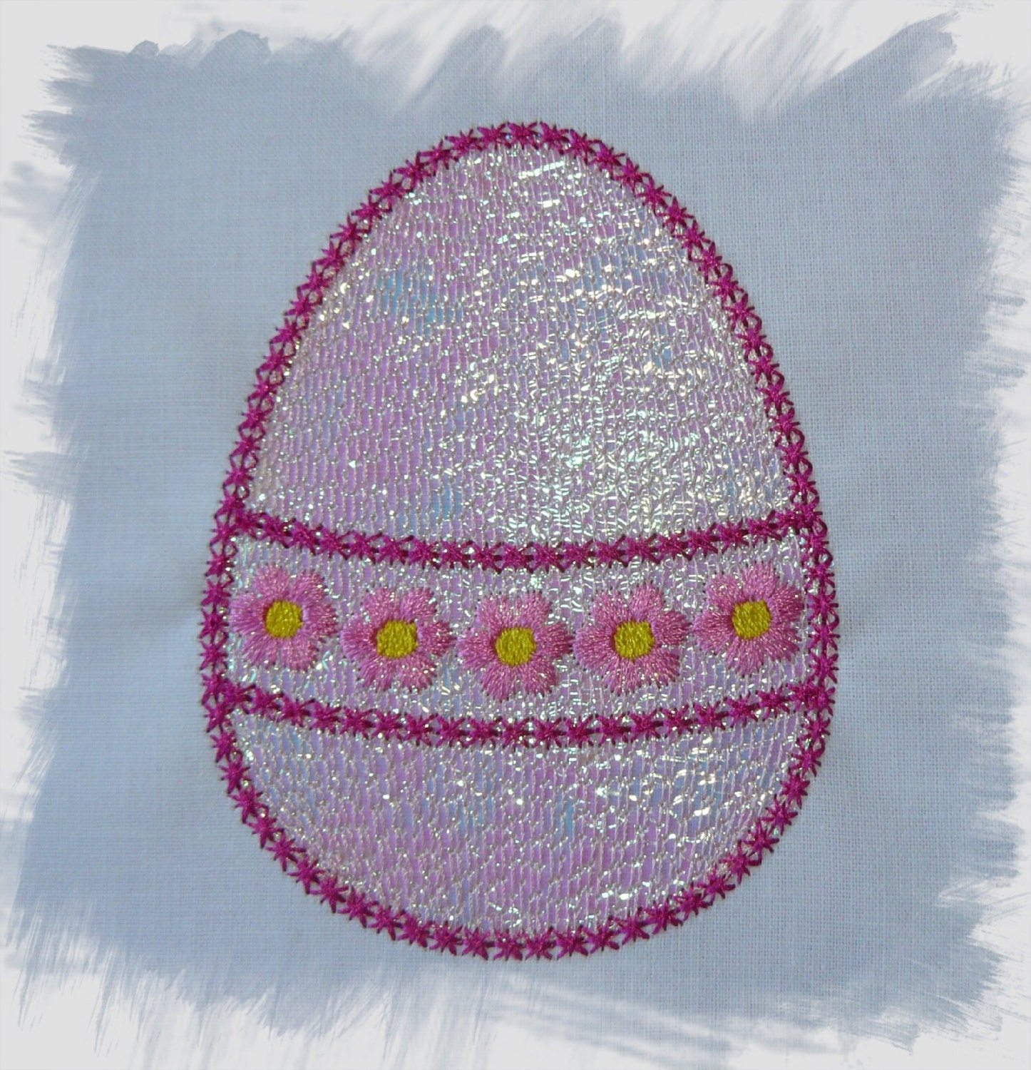 Easter egg mylar machine embroidery design set of designs