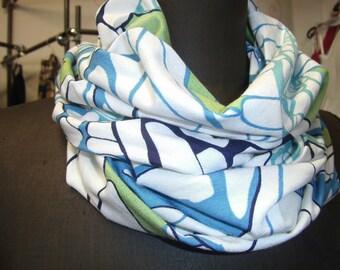 blue-green Loop - Jerseyloop - Giftidea - Scarf for Women and Men - handmade Loop