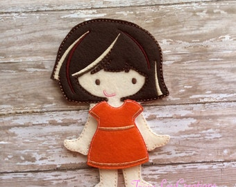 Non Paper Doll, Un Paper Doll, Travel Toy, Pretend Play, Dress Up Doll, Felt Flat Doll, Felt Board , Quiet Play, Educational Toy, Felt Doll