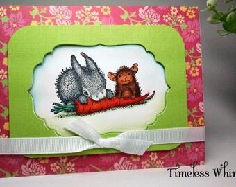 Handmade House Mouse Card