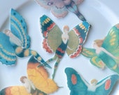 Edible Flapper Butterfly Fairies x 12 Large Mixed Colours Wafer Paper Cake Decorations Cupcake Cookie Toppers Wedding 1920 Wings Fairy RTD