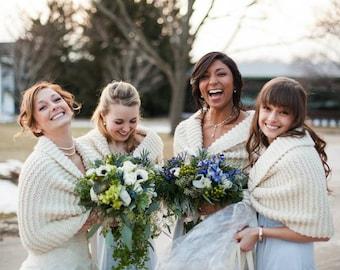 Custom Wool Hand Knit Shawl/Shrug/Bolero/Wrap/Bridal Shawl/Bridal Shrug/Bridal Bolero/Bridal Wrap