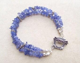 "Natural tanzanite bracelet ""Spirituality"""
