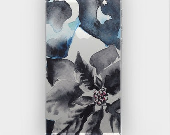 Transparent Skin Sticker Decal for iPhone 5 5s 5c 4 4s - Watercolor In The Light of Moon