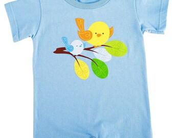 1/Sweet Tweet Bird Blue - Body Suit