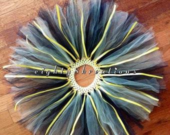 Black & Yellow Little Girl's Handmade Tutu Skirt #020