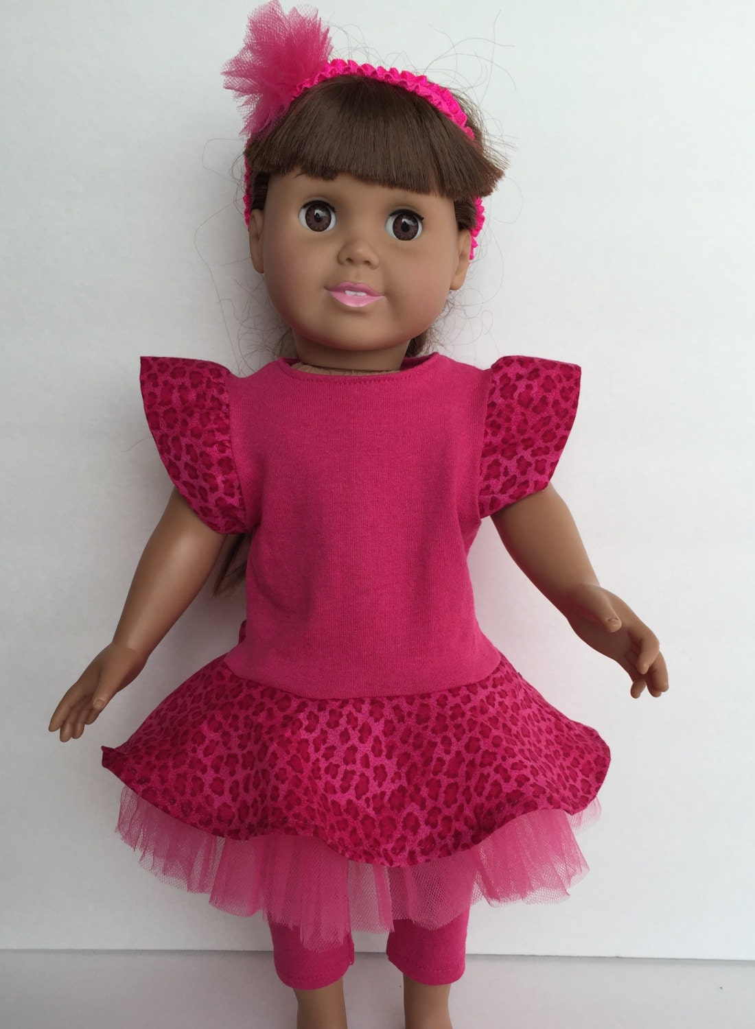 SALE Cute 18 Inch Doll Hot Pink Leopard By