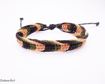 Army bracelet, camouflage colours, army wristband, mens bracelet, mens wristband, neutral colours, camouflage colors, fishing lovers, army