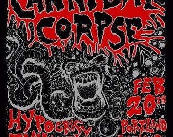Cannibal Corpse Portland 2004 original concert Poster