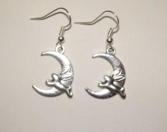 Bunny Rabbit Moon Earrings