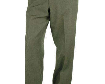 Genuine U.S. Army Trousers Pants Military 34 x 33 Marine Corps Green Shade US Army 55% Polyester 45 Wool
