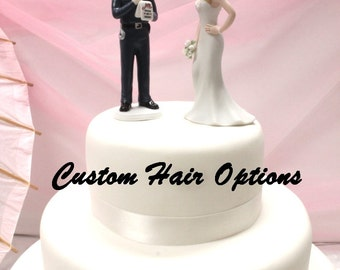 police officer wedding cake topper officer wedding cake topper personalized 18672