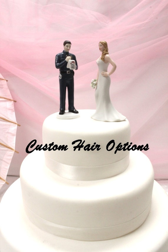 Police Officer Wedding Cake Topper Personalized Policeman