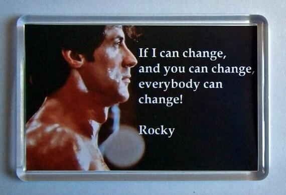 Sylvester Stallone Rocky IV Change Talia Shire movie poster fridge magnet New