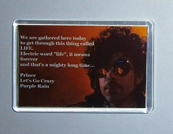 Prince Purple Rain Let's Go Crazy lyrics movie poster magnet New