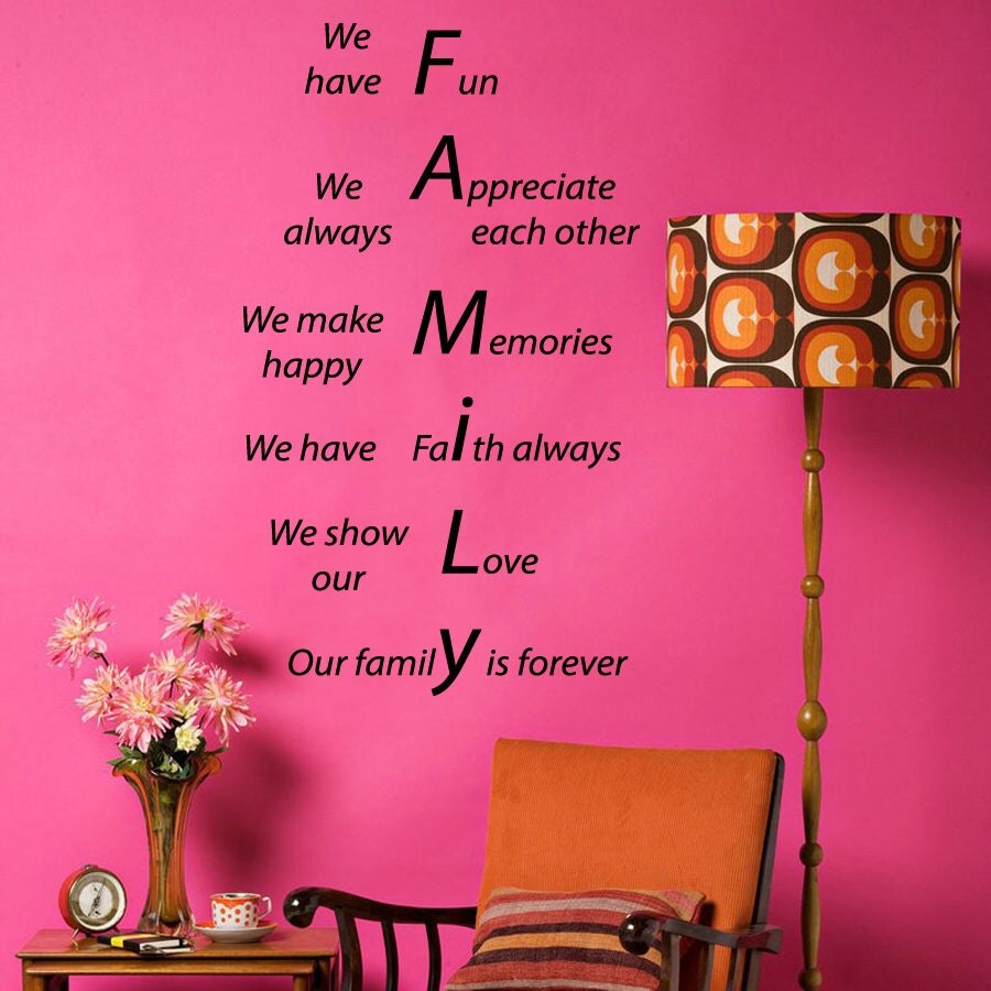 Family forever wall decals quote we show our love make zoom amipublicfo Gallery