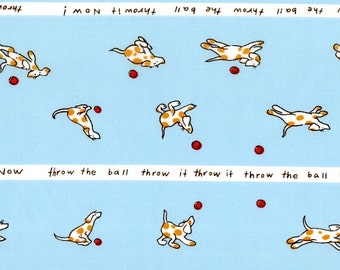 Heather Ross - Munki Munki Fabric - Spot the Dog on Poplin - Out Of Print OOP VHTF