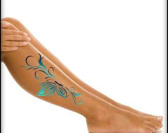 Temporary Tattoo Butterfly Leg Ultra Thin Realistic Fake Tattoos