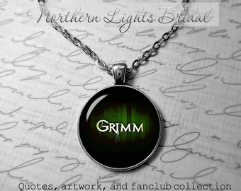 Gimm necklace grimm fairy tales grimm jewelry Grimm logo Fairy tales necklace I love fairy tales 398.2 jewelry Photo Pendant Brothers Grimm