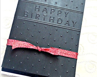 Embossed Cards, Birthday Cards Embossed, Embossed stationery, Embossed Card Set, Happy Birthday card, Embossed Birthday Cards, Handmade card