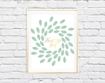 Treat Yo Self Print | 8x10 Parks and Recreation Printable Wall Art | Instant Download