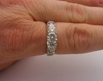 2.50 Carat Total Weight Round Cut Certified Diamond Ring 14K White Gold
