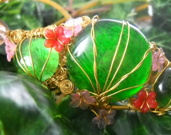 BELTAINE Crown ~ Brass, glass, acrylic beads