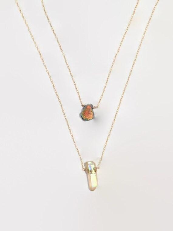 Layering Gemstone Necklace