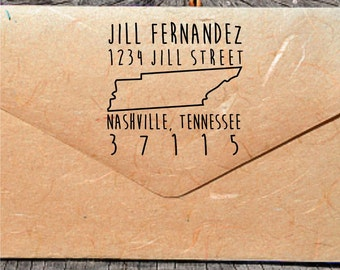 Tennessee Address Stamp, Custom Address Stamps, Self-Inking Address Stamps