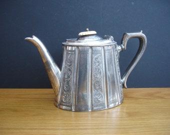 Vintage Tea Pot  Arthur E Furniss Silver Tea Pot Vintage Kitchen Vintage Tableware Afternoon Tea